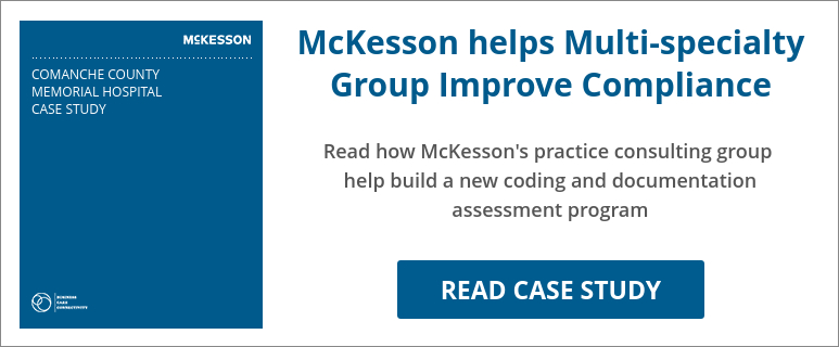 Case Study Comanche County Memorial Hospital - McKesson helps Multi-specialty Group Improve Compliance