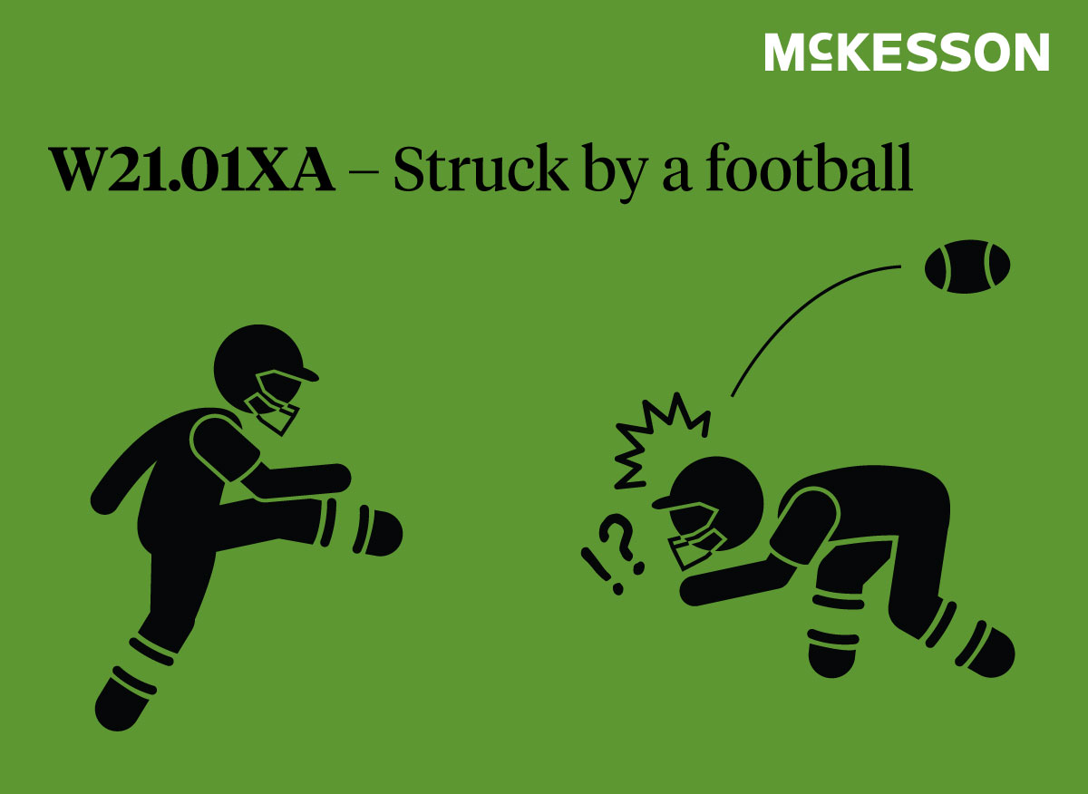 ICD-10 Labor Day Code - Stuck by football