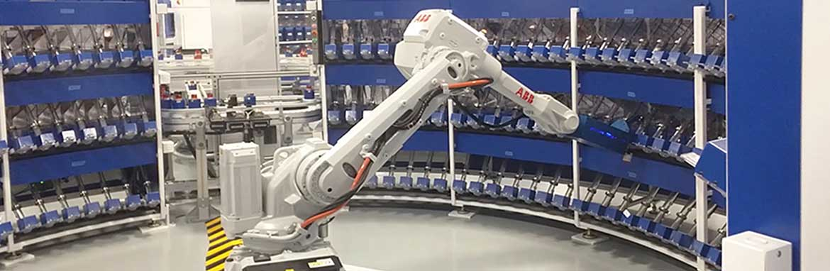 Automated arm assembling medication