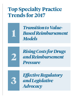 Top Three Specialty Practice Trends for 2017