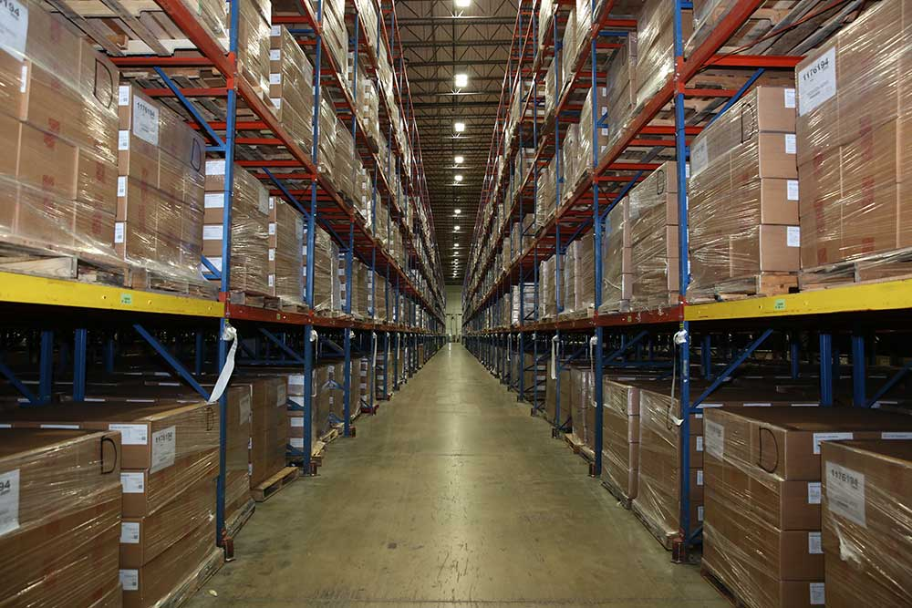 Inside one of McKesson's COVID-19 supply kit distribution centers.