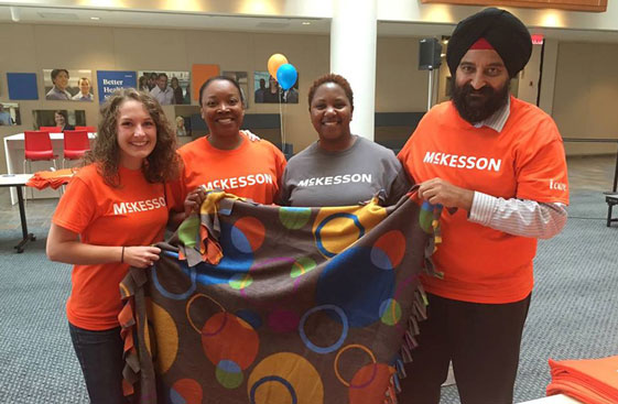 Colleagues join together for Community Days, McKesson's largest volunteer event of the year.