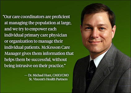 <p><strong>Michael Hunt, DO, CMIO/CMO, </strong><strong>St. Vincent's Health Partners in Bridgeport, CT.</strong><b></b></p>