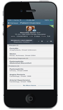 Figure 3: Patient Banner displayed on iPhone